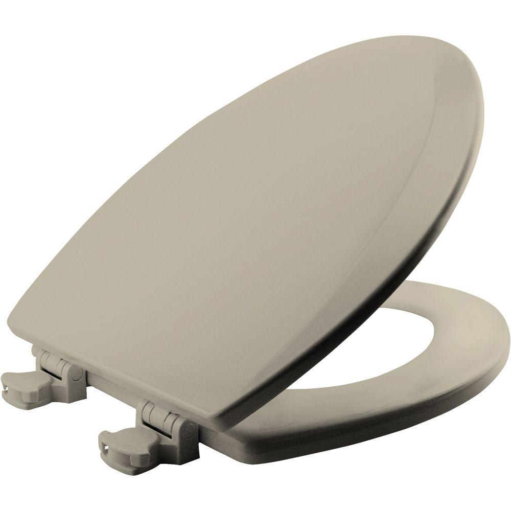 BEMIS Lift-Off Elongated Closed Front Toilet Seat in Almond