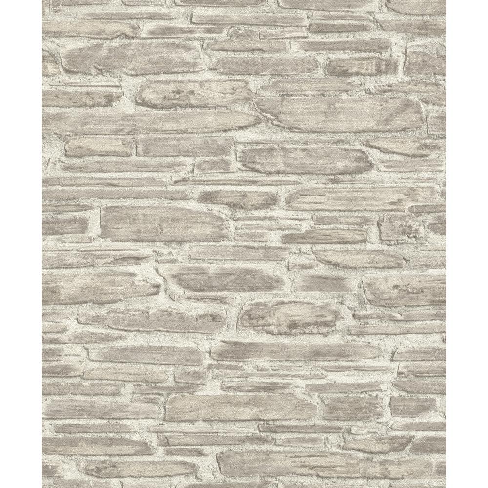 8 in. x 10 in. Cassandre Neutral Stone Wallpaper Sample