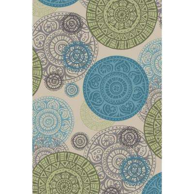 Adaline Collection Seal of Love 5 ft. x 6 ft. 6 in. Non-Skid Soft Anti-Bacterial Area Rug