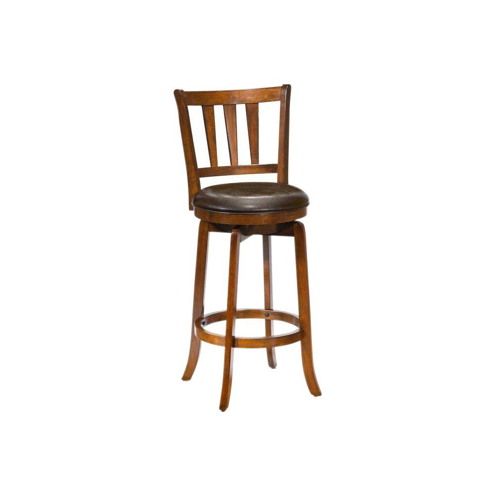 Hillsdale Furniture Presque Isle 39 5 In Cherry Swivel Cushioned Bar Stool 4478 827 The Home