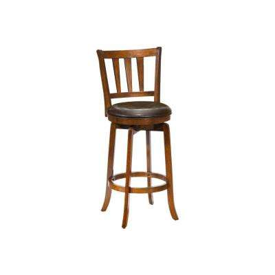 Presque Isle 39.5 in. Cherry Swivel Cushioned Bar Stool