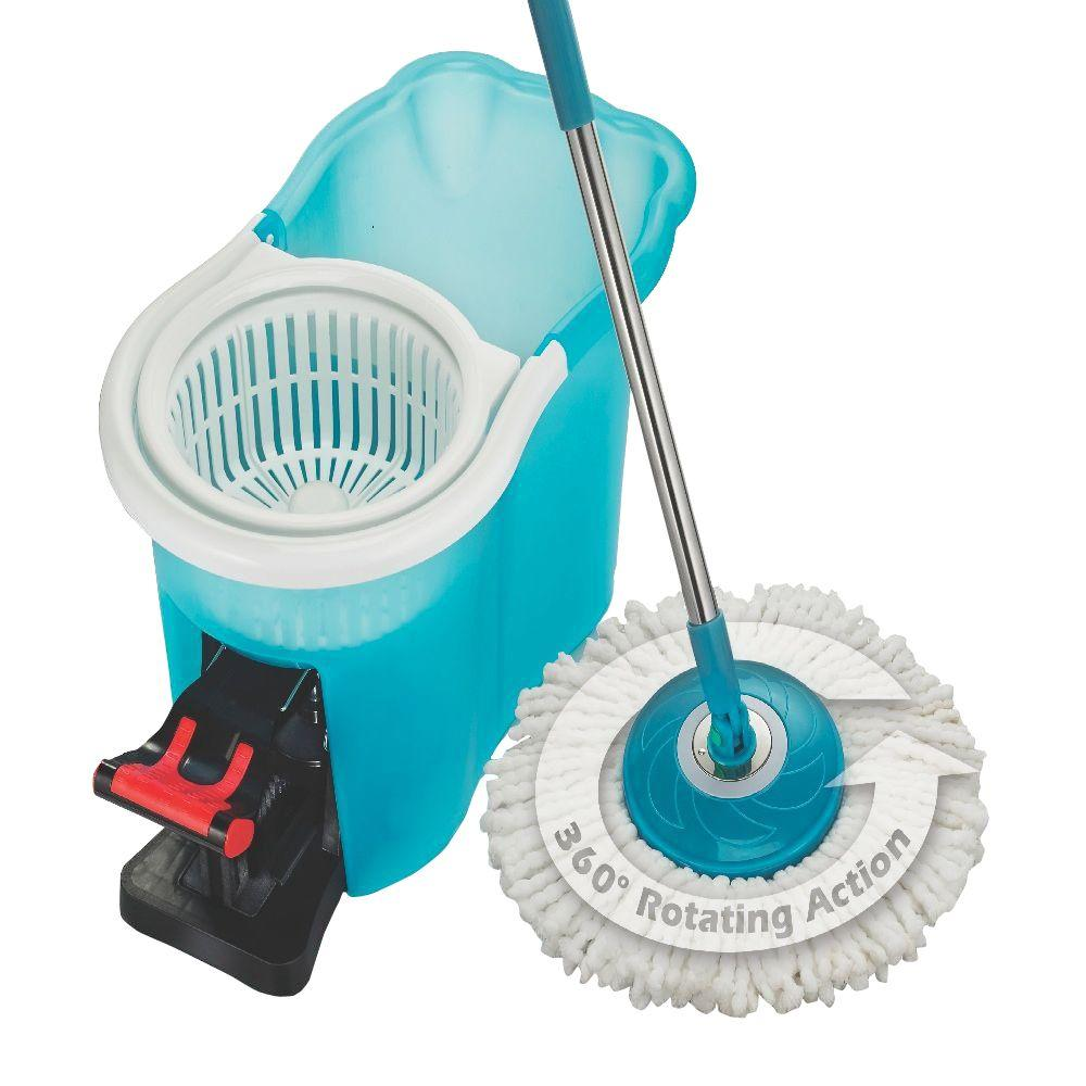 Hurricane 360 176 Dust Clean Spin Mop 8415 The Home Depot