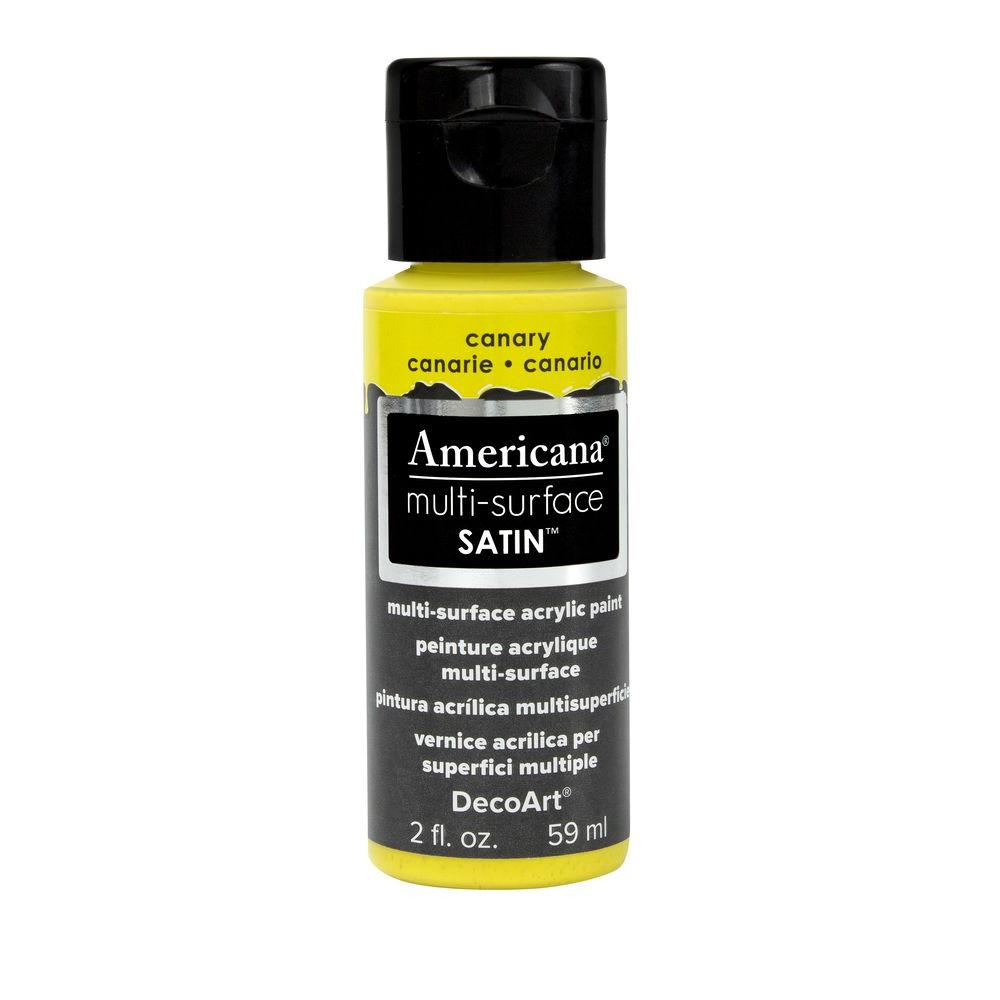 Americana 2 oz. Canary Satin Multi-Surface Acrylic Paint