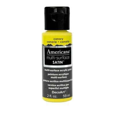 Americana 2 oz. Canary Satin Multi-Surface Acrylic Paint
