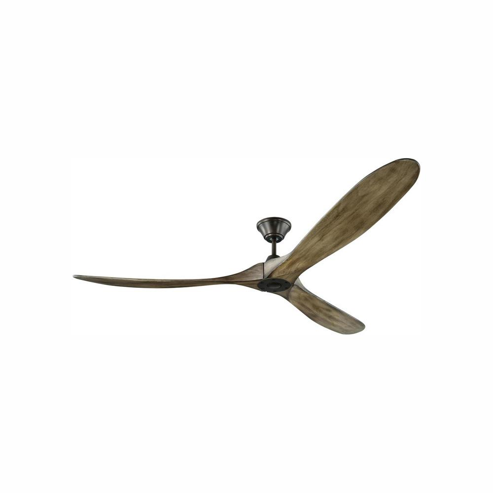 Monte Carlo Maverick Max 70 in. Indoor/Outdoor Aged Pewter Ceiling Fan with Light Grey Weathered Oak Blades