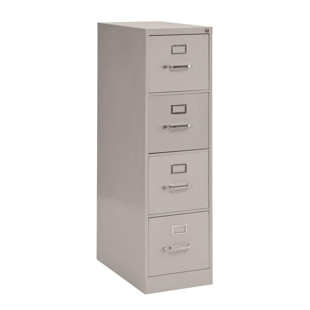 Sandusky 4-Drawer Vertical File Cabinet in Dove Grey-DISCONTINUED