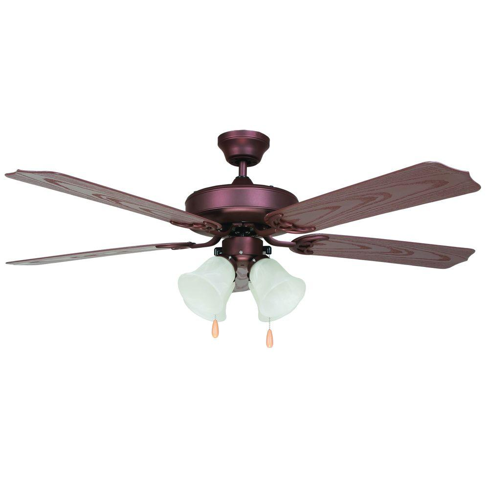 Yosemite Home Decor Patterson 52 in. Outdoor Oil Rubbed Bronze Ceiling Fan with 4-Light-DISCONTINUED