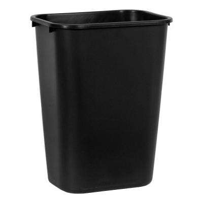 Standard Series 10.3 Gal. Black Rectangular Trash Can