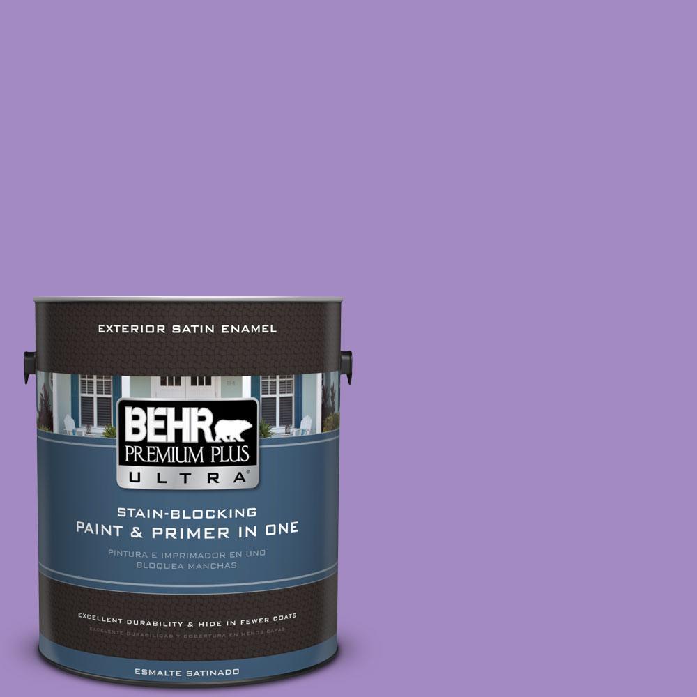 BEHR Premium Plus Ultra 1-gal. #P570-4 Classic Bouquet Satin Enamel Exterior Paint