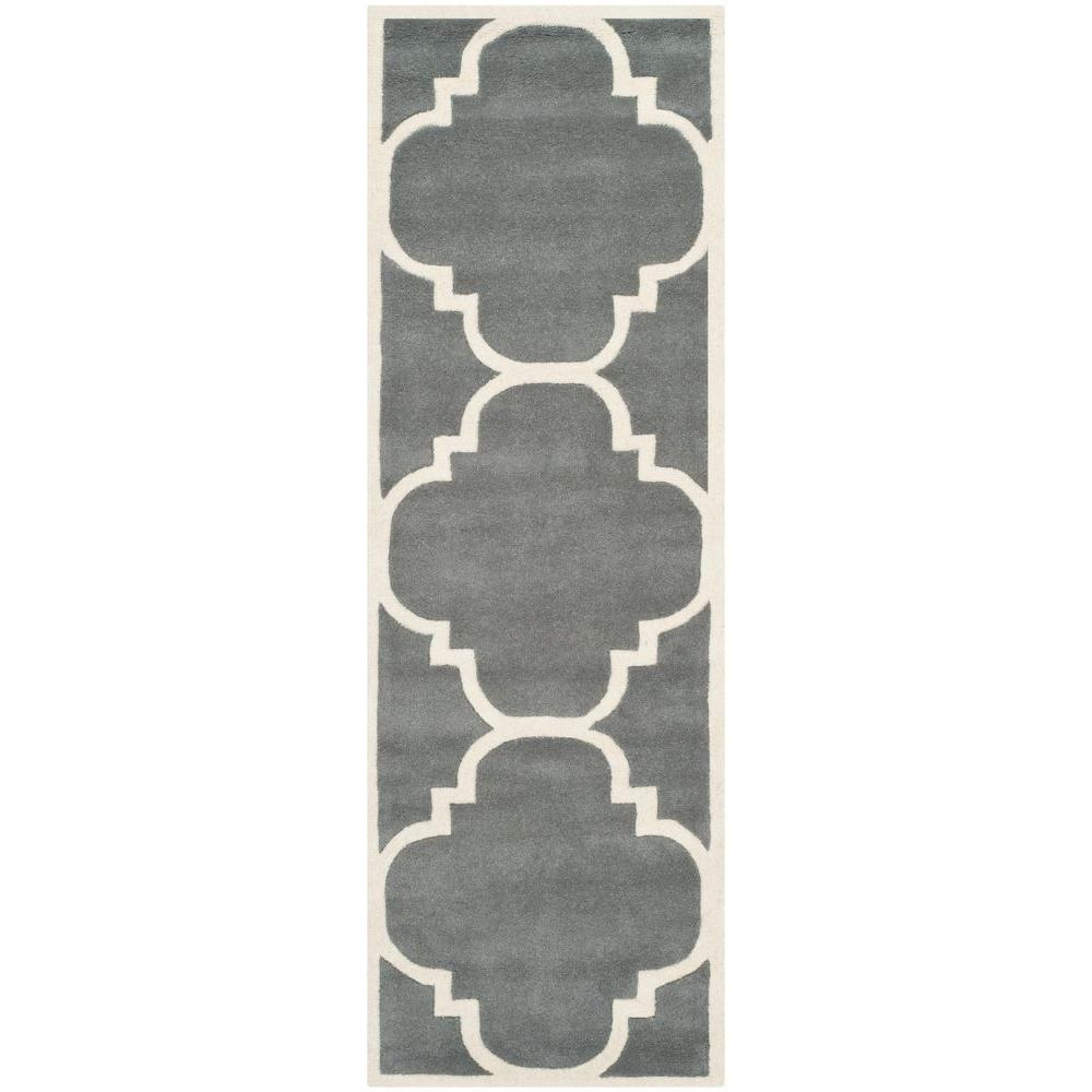 Chatham Dark Grey/Ivory 2 ft. 3 in. x 11 ft. Runner