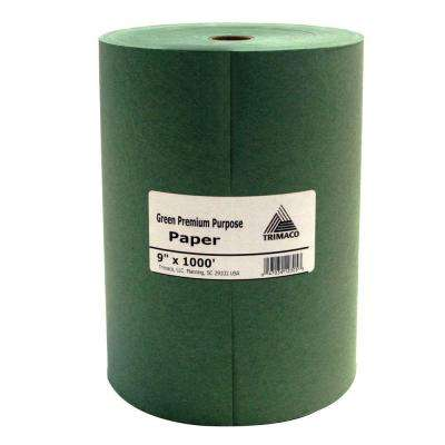 9 in. x 1000 ft. Green Masking Paper