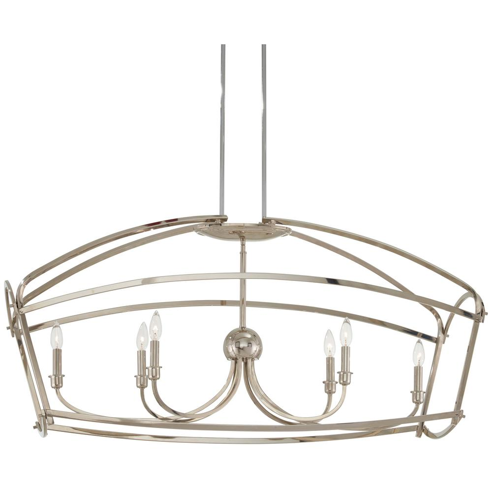 Jupiter's Canopy 6-Light Polished Nickel Pendant