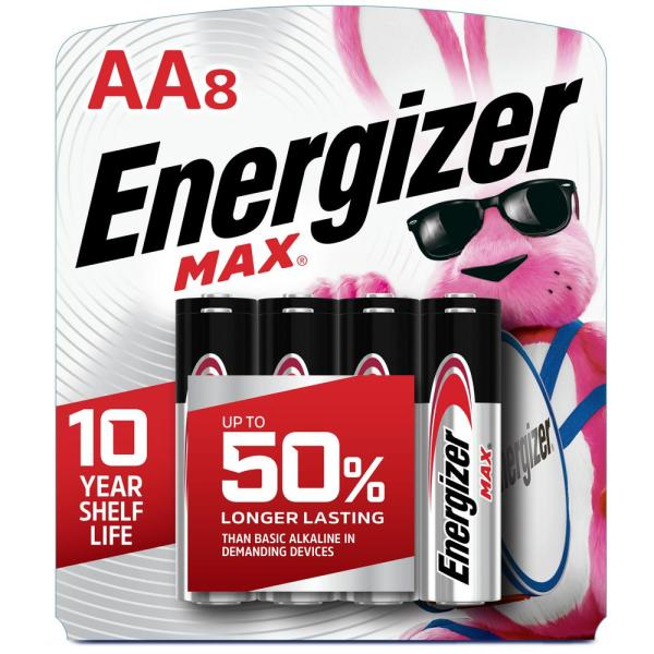 MAX Alkaline AA Battery (8-Pack)