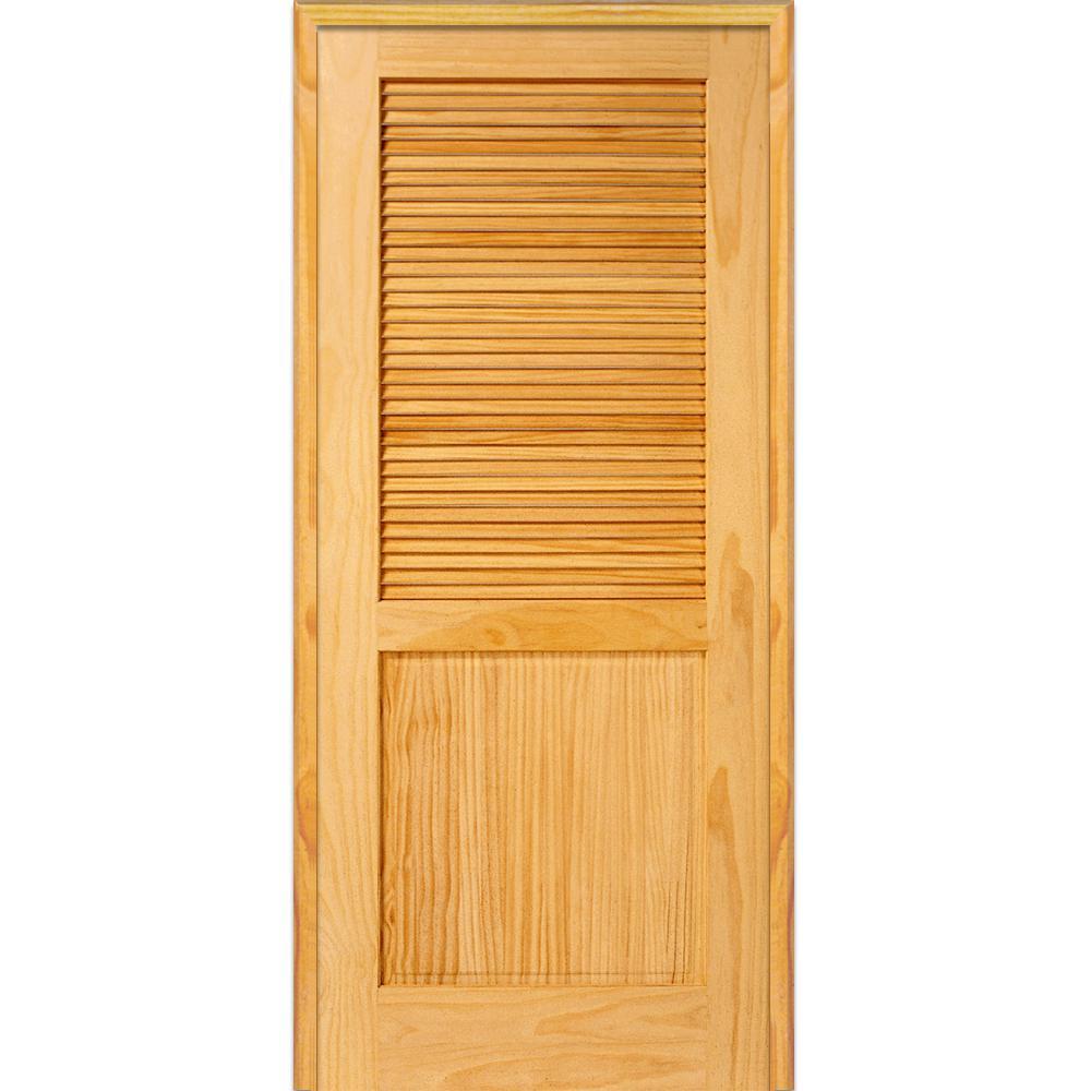 1 Panel Prehung Doors Interior Closet Doors The Home Depot