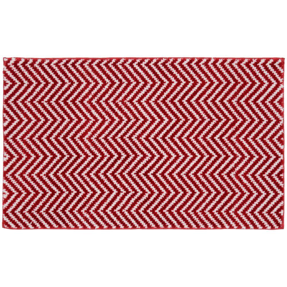 Garland Rug Palazzo Ii Crimson Red White 21 In X 34 In Bath Rug