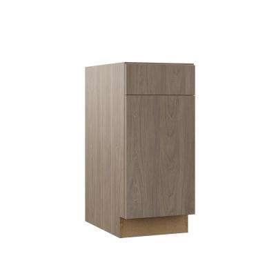 Edgeley Assembled 15x34.5x23.75 in. Base Kitchen Cabinet in Driftwood