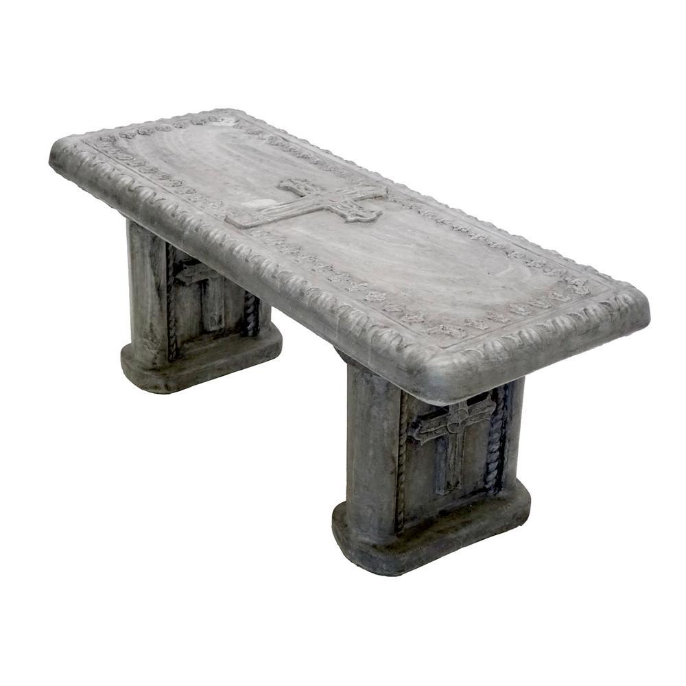 Cross Concrete Garden Bench