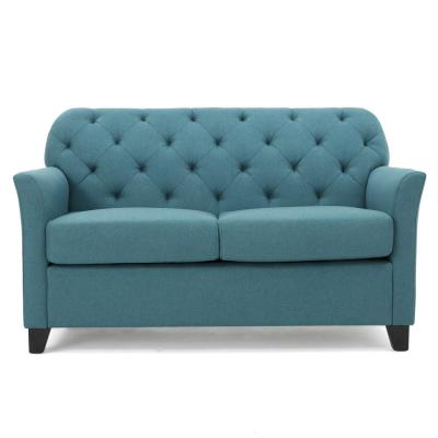 Jessup 57 in. Dark Teal Polyester 2-Seater Loveseat with Removable Cushions