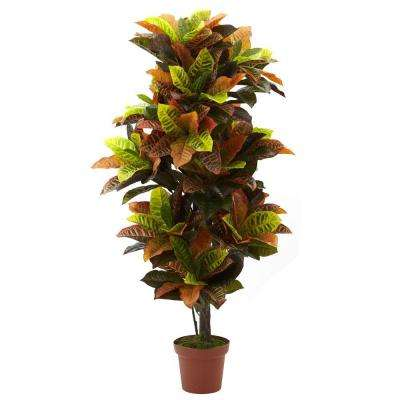Real Touch 56 in. Croton Plant