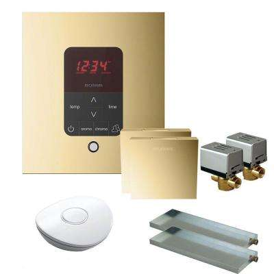 MS Butler 2 Package with iTempo Pro Square Programmable Control for Steam Bath Generator in Polished Brass