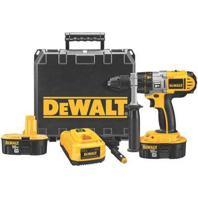 18-Volt XRP NiCd Cordless 1/2 in. Hammerdrill/Drill/Driver with (2) Batteries 2.4Ah, Vehicle Charger and Case