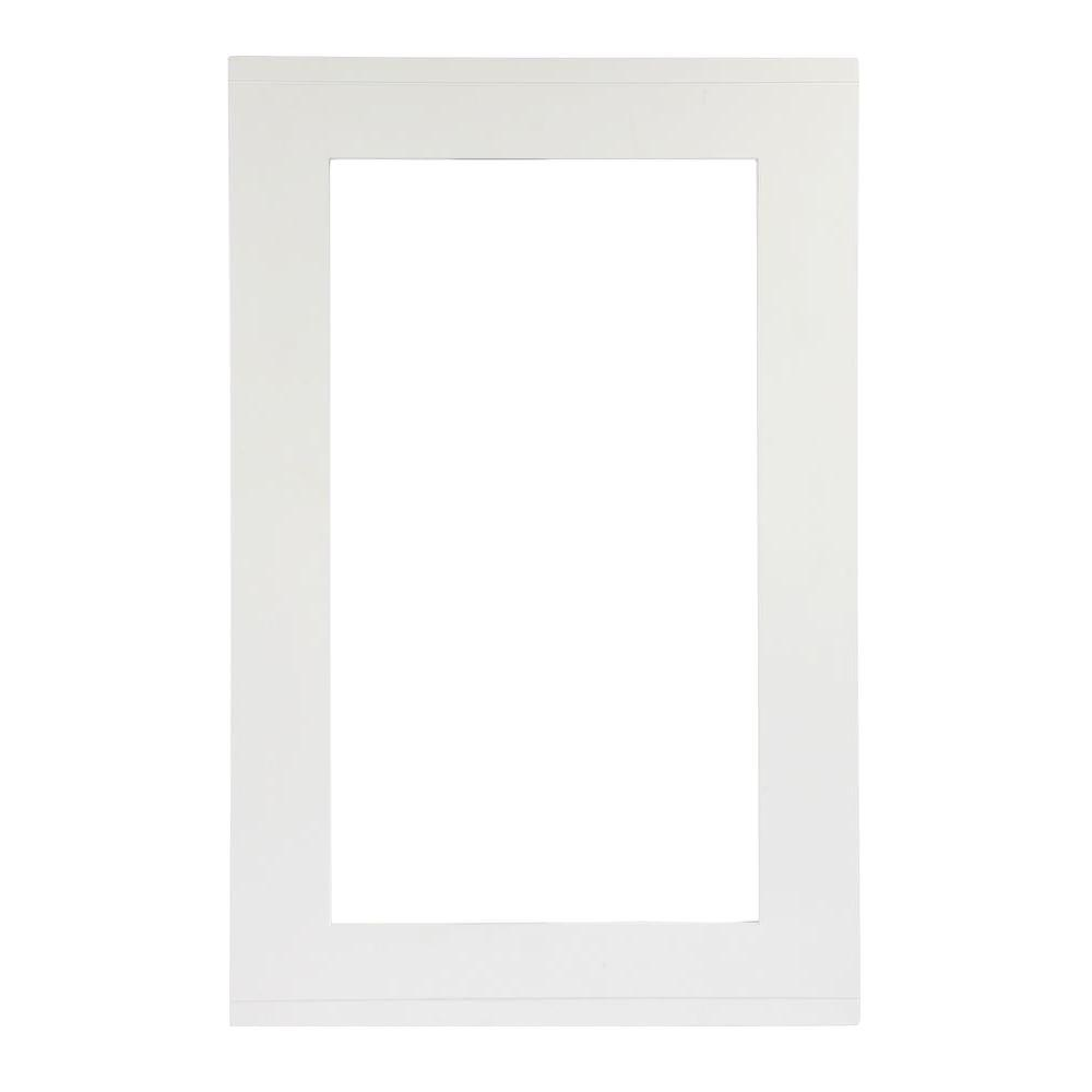 Home Decorators Collection Parsons 20 in. W Wall Mirror in White