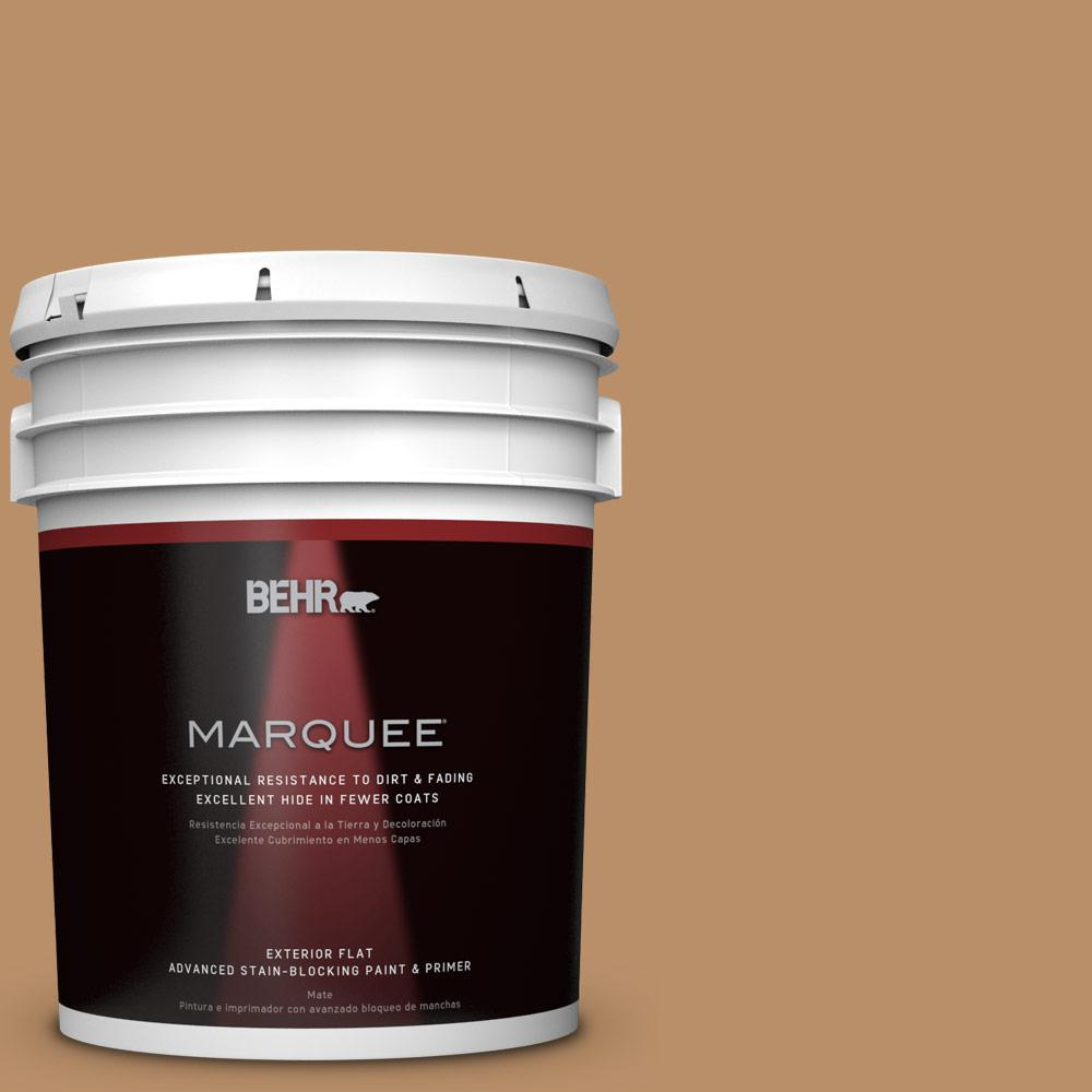 BEHR MARQUEE 5-gal. #S260-5 Almond Roca Flat Exterior Paint
