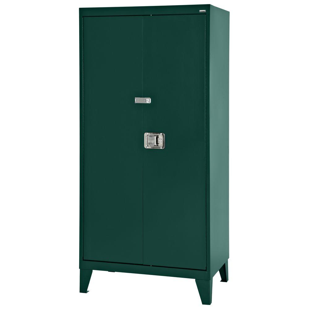 Sandusky 79 in. H x 36 in. W x 18 in. D Freestanding Steel Cabinet in Forest Green
