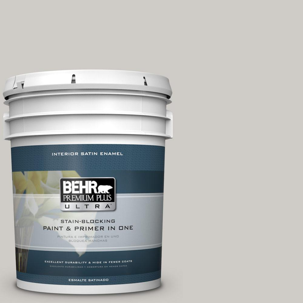 5 gal. #PPU26-10 Chic Gray Satin Enamel Interior Paint