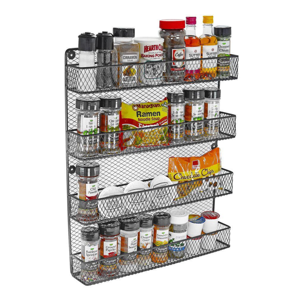 4-Tier Wall Spice Rack