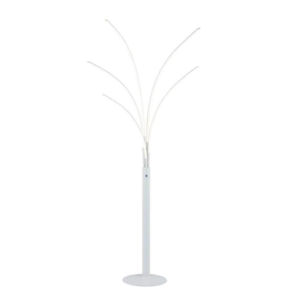 Aurora II 94 in. Matt White LED Arched Floor Lamp With Dimmer