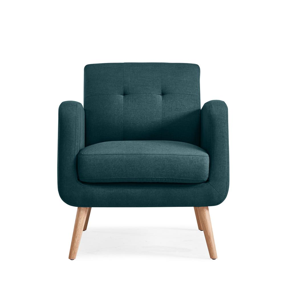 This Review Is From Kingston Caribbean Blue Linen Mid Century Modern Arm Chair