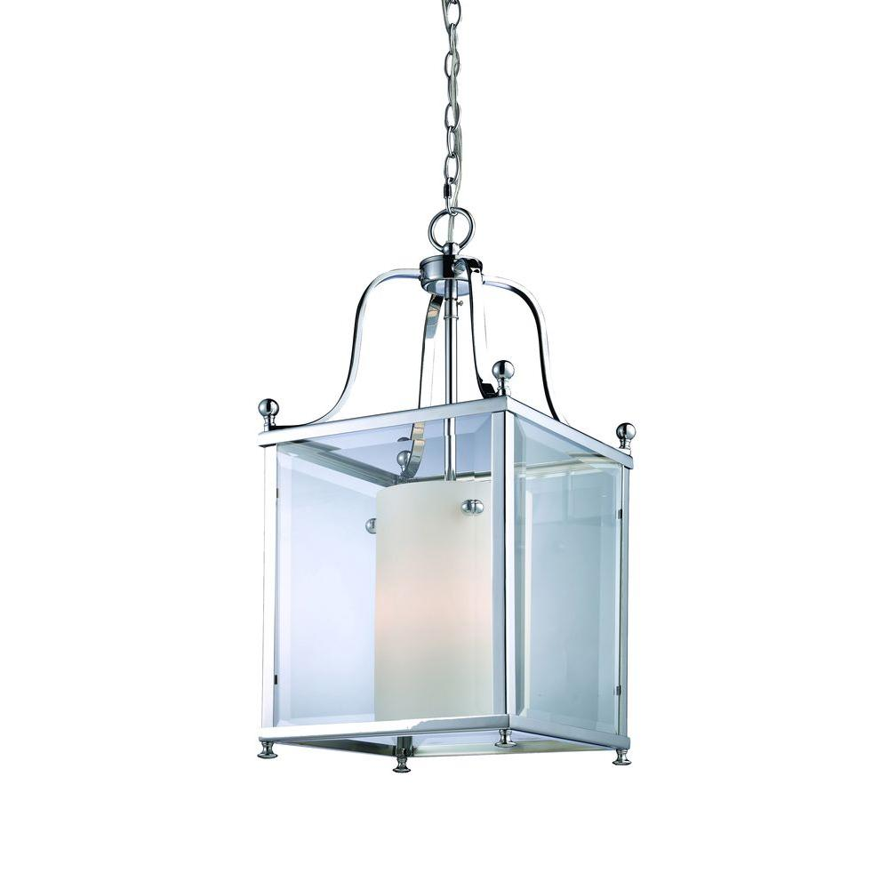 Lawrence 3-Light Chrome Candelabra Ceiling Pendant