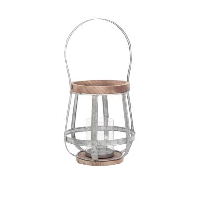 15 in. Outdoor Mixed Material Lantern