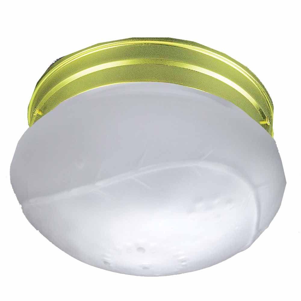 Lenor 2-Light Polished Brass Incandescent Ceiling Flushmount