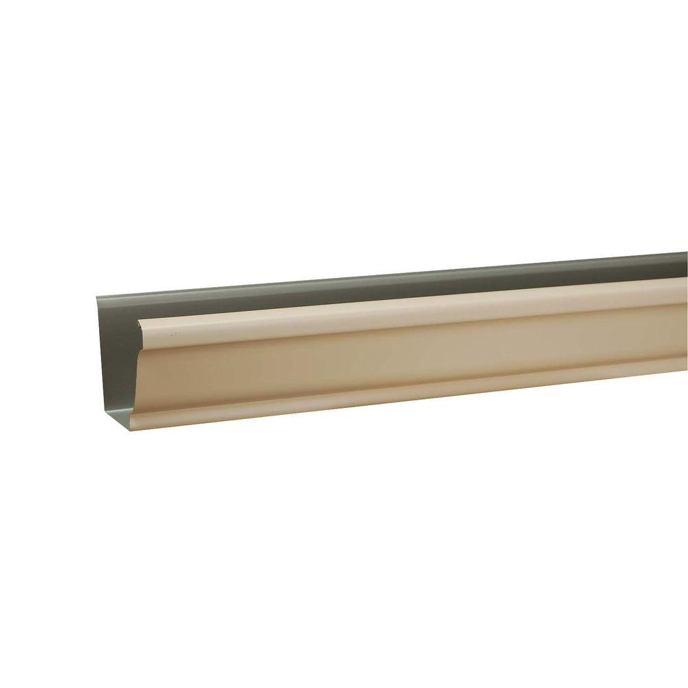 Amerimax Home Products 5 in. x 10 ft. K-Style Light Maple Aluminum Gutter