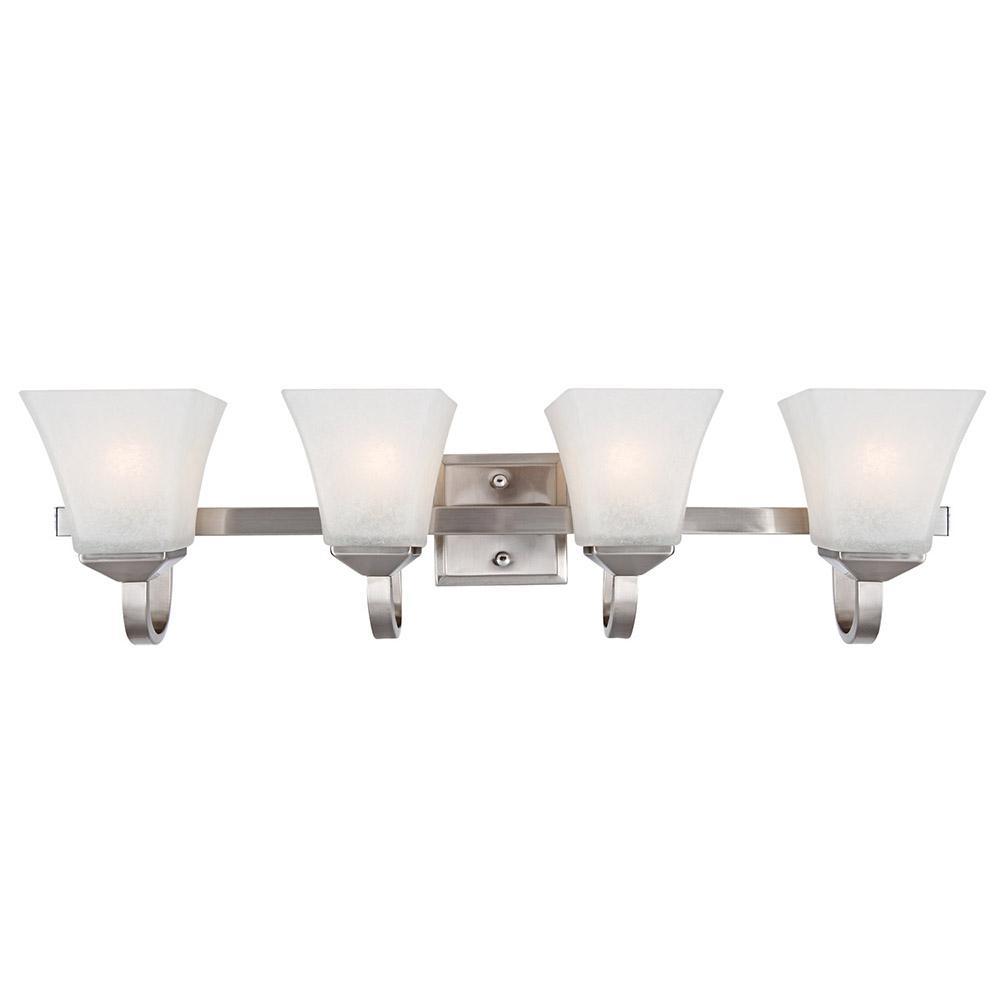 Design House Torino 4-Light Satin Nickel Vanity Light