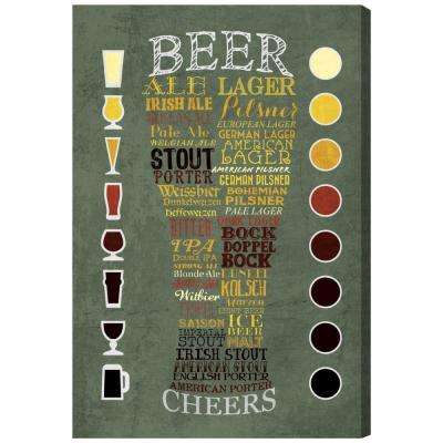 """Beer Chart"" by Oliver Gal Framed Canvas Wall Art"