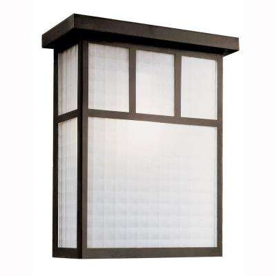 Garden Box 2-Light Outdoor Black Wall Lantern with Frosted Glass