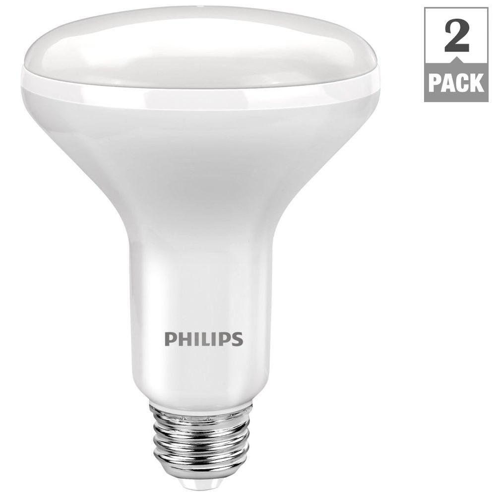 Philips 65W Equivalent Soft White BR30 LED Light Bulb (2
