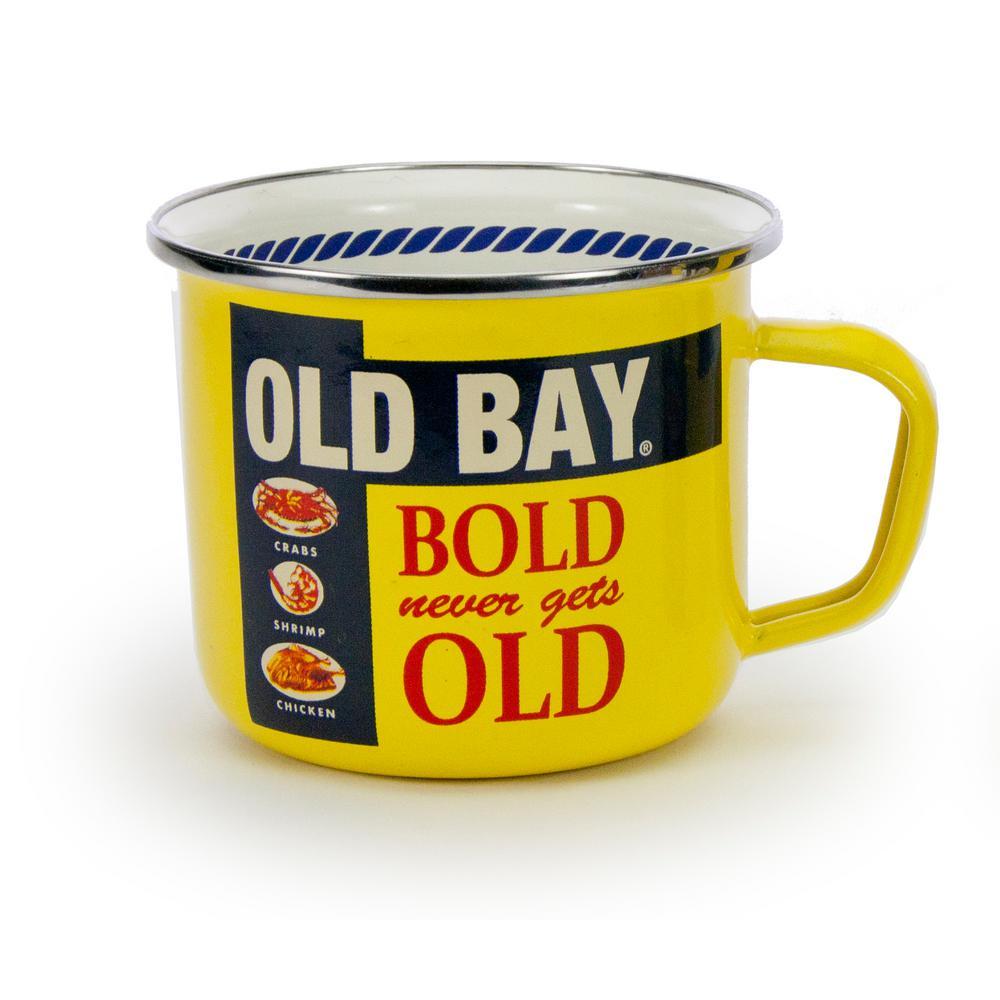 Old Bay 24 oz. Yellow Enameled Steel Grande Mug