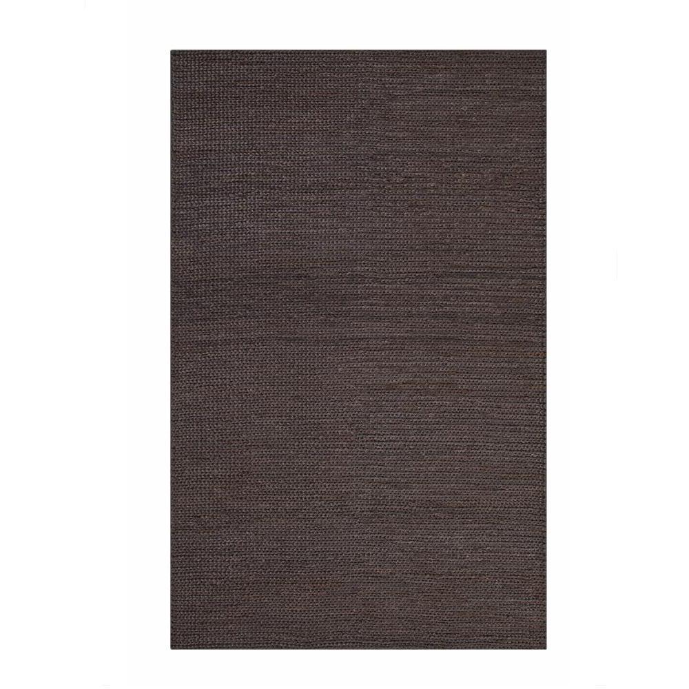 sams international jute charcoal 8 ft x 10 ft area rug 1402 8x10 the home depot. Black Bedroom Furniture Sets. Home Design Ideas