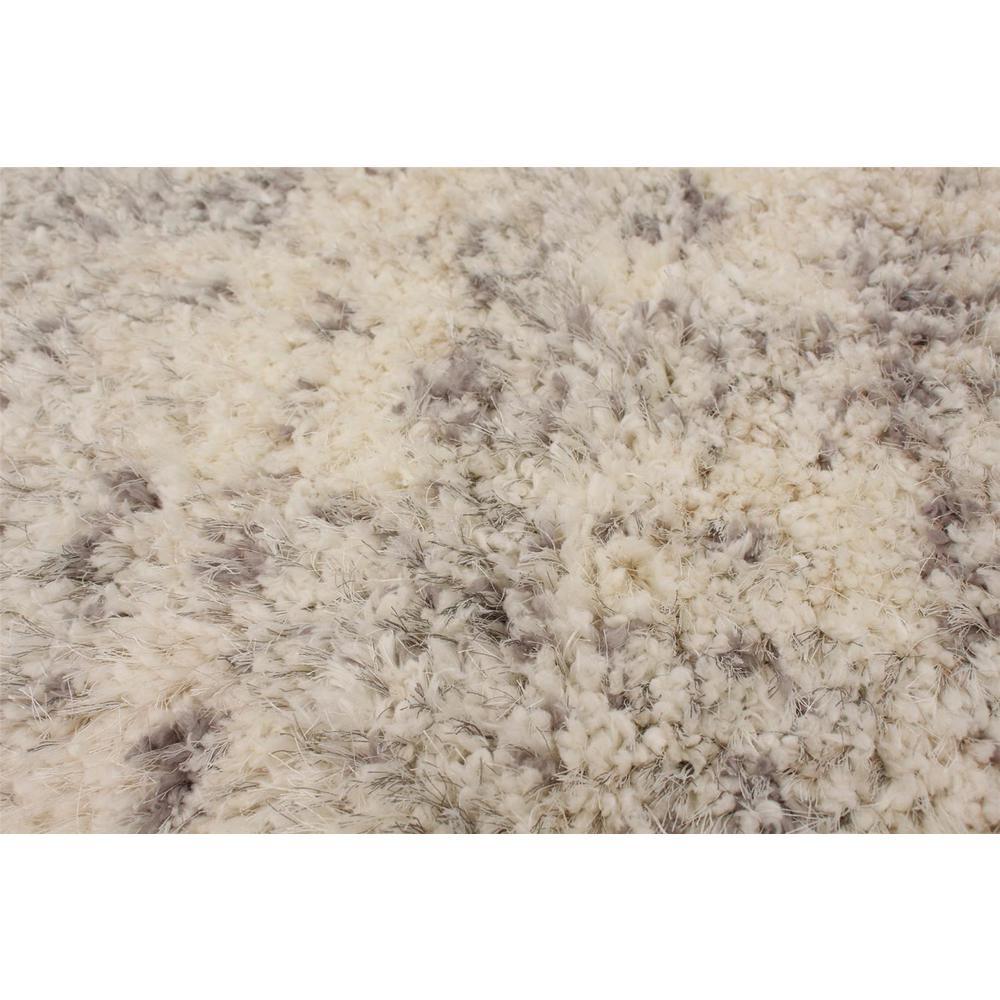 Ecarpet Gallery Alpaca S Cream Grey 5 Ft 3 In X 7 Abstract Area Rug