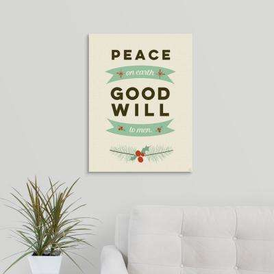 """Peace On Earth"" by Aubree Perrenoud Canvas Wall Art"