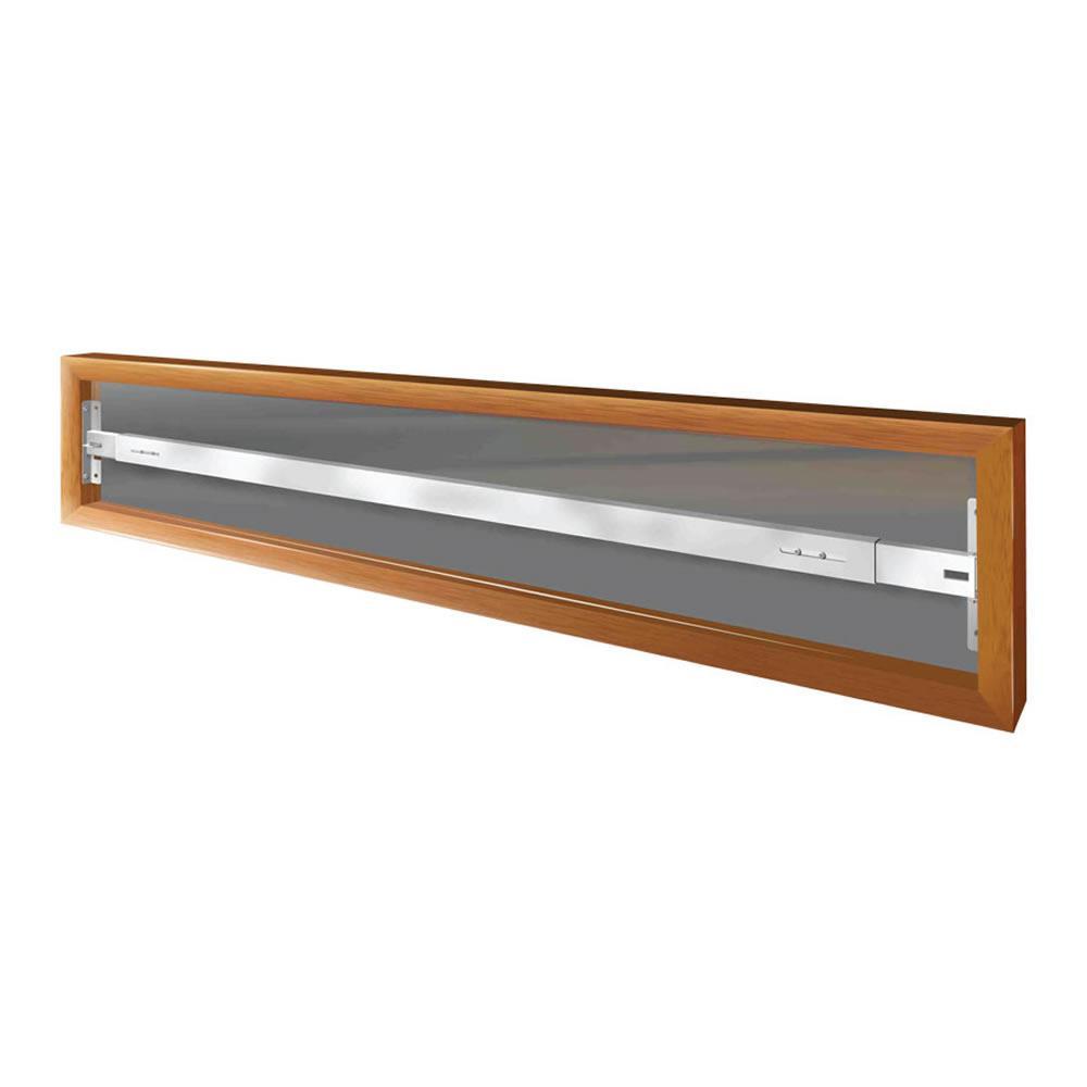 Swing-Away 42 in. to 54 in. Adjustable Width 1-Bar Window Guard - White