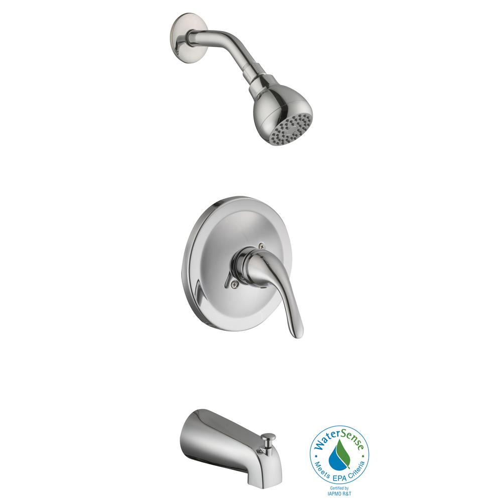 bathtub and shower faucet combo. Glacier Bay Builders Single Handle 1 Spray Tub and Shower Faucet in Chrome