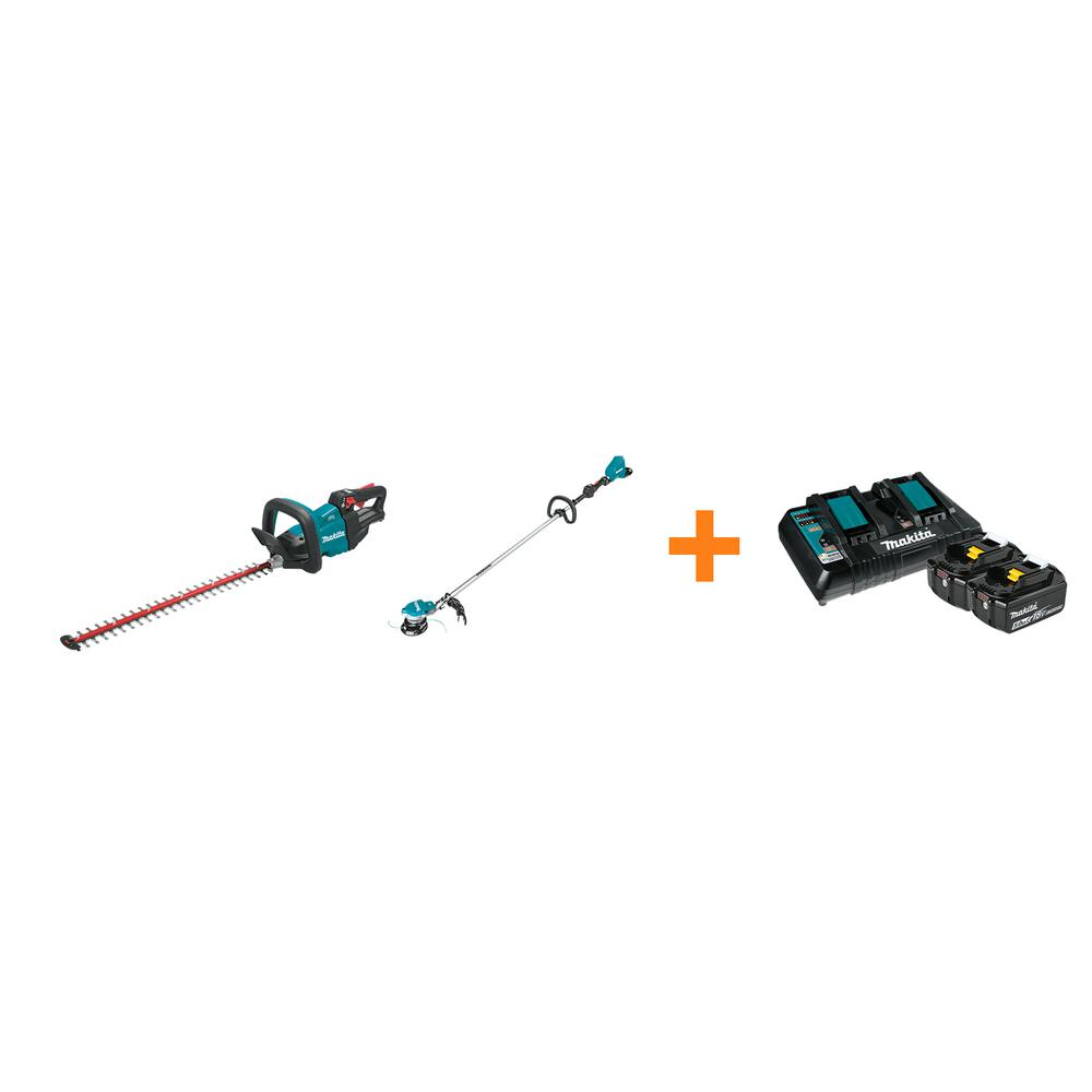 Makita 18V LXT Cordless 24 in. Hedge Trimmer and 18V X2 LXT Brushless String Trimmer with bonus 18V LXT Starter Pack was $767.0 now $518.0 (32.0% off)