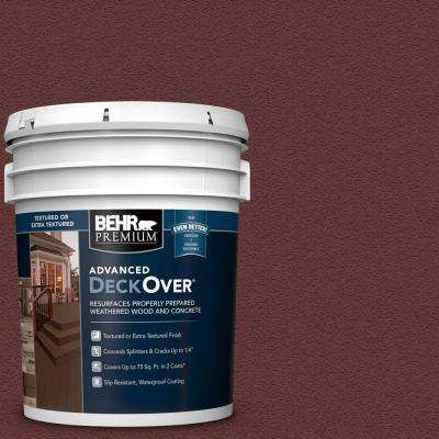 5 gal. #PFC-04 Tile Red Textured Solid Color Exterior Wood and Concrete Coating