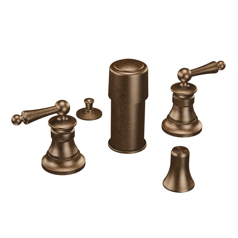 MOEN Waterhill 2-Handle Bidet Faucet in Oil Rubbed Bronze