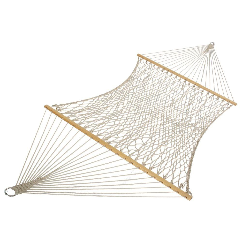 Island Original Cotton Patio Rope Hammock In White